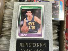1987-88 Fleer John Stockton Rookie card w/Granite holder!