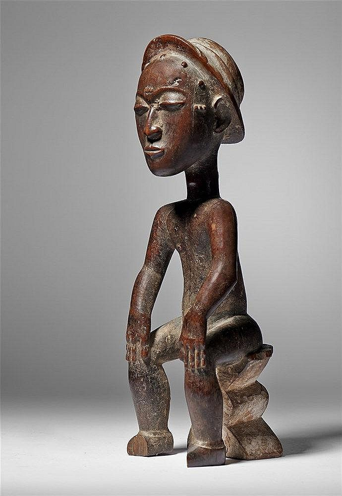 Baule Spirit Spouse Figure in Western Hat