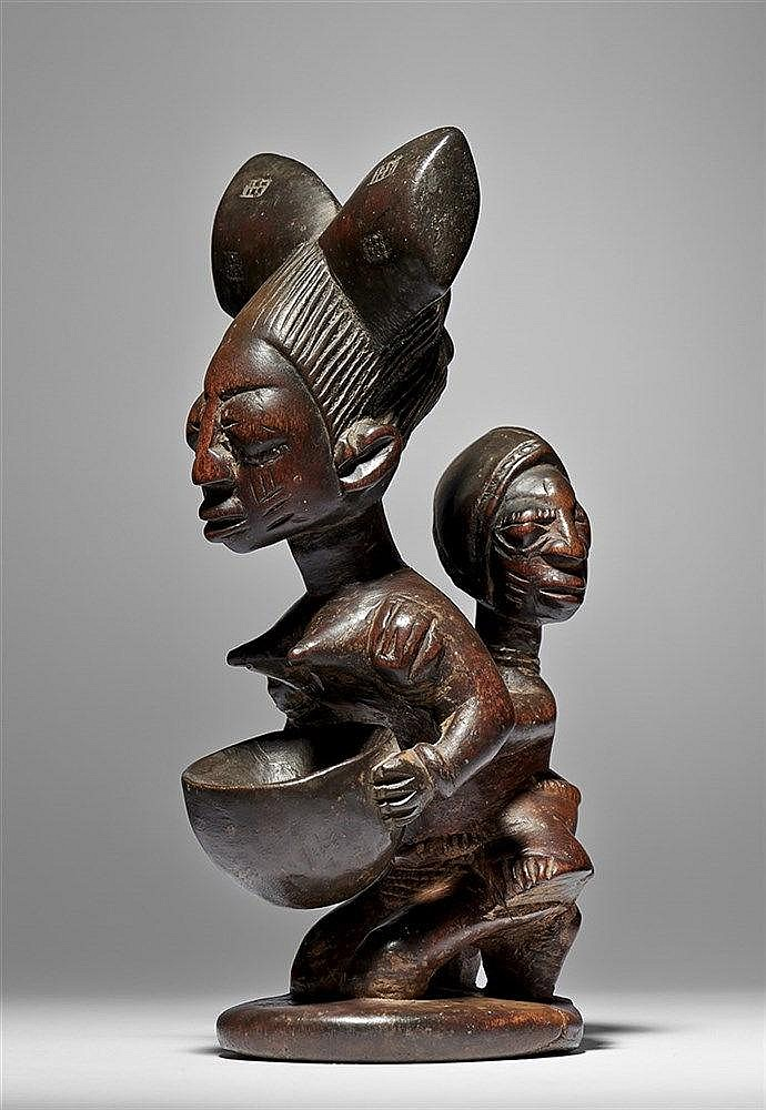 Yoruba Agere Ifa Maternity Figure With Bowl