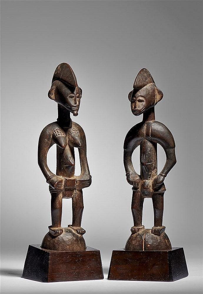 Pair of Senufo Figures