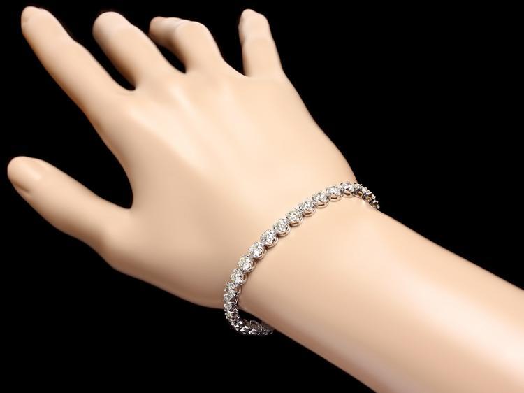 18k White Gold 9 00ct Diamond Tennis Bracelet