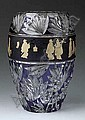 A Val St. Lambert Cut and Enameled Glass Vase, Adophe Pietri-Corsen, Click for value