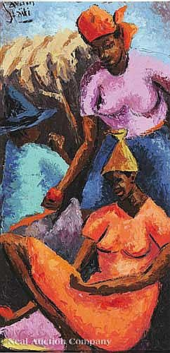 Petion Savain (Haitian, 1906-1973), a pair of