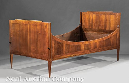 directoire style inlaid fruitwood lit de repos. Black Bedroom Furniture Sets. Home Design Ideas