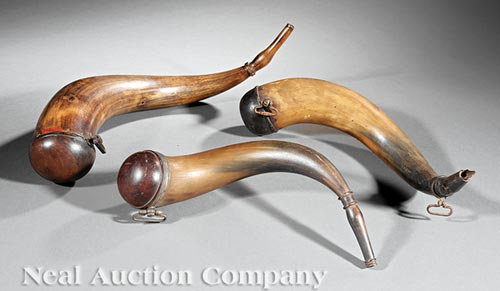 Three American Powder Horns