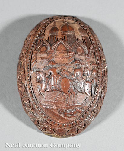 Napoleonic Carved Coconut Lid