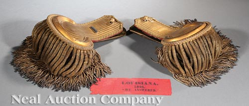 Pair of Mexican War Officer's Epaulets
