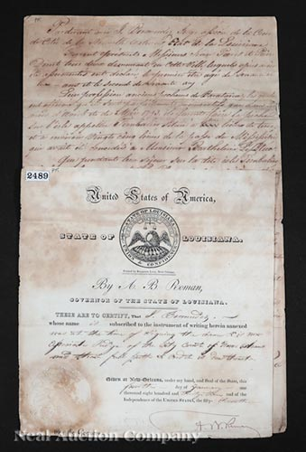 [Governor Andre B. Roman Signed Documents]