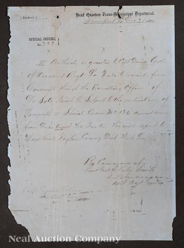 [Civil War], autographed letter