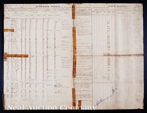 Four Louisiana Confederate Muster Rolls