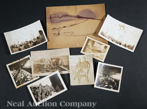 Group of Nine Military Photographs
