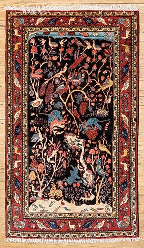 Pictorial Kashan Carpet