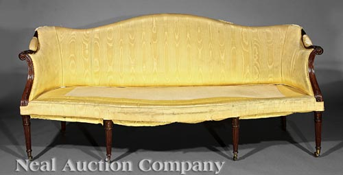 George III Carved Mahogany Sofa
