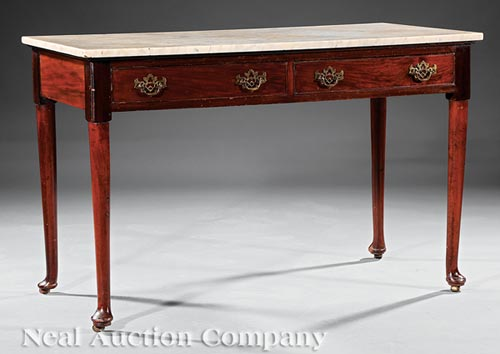 Antique English Mahogany Serving Table