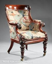 Late Regency Library Armchair