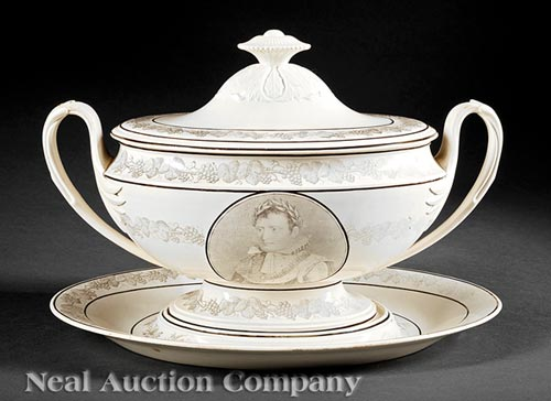 Creil Creamware Tureen and Undertray