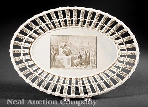 Creil Creamware Reticulated Undertray