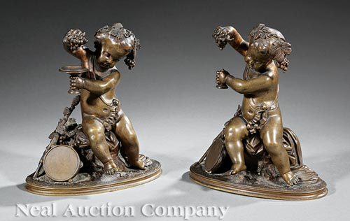 Pair of French Bronze Bacchantes