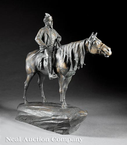 Bronze Figure of Cossack on Horseback