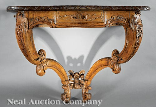 Louis XV Provincial Walnut Console