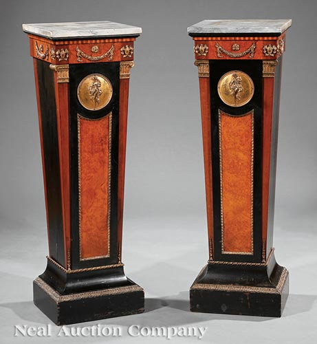 Pair of Belle Epoque Pedestals