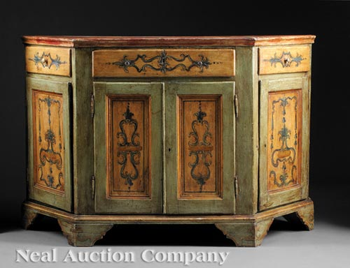 Antique Italian Painted Credenza