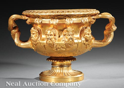 Grand Tour Gilt Bronze Warwick Vase