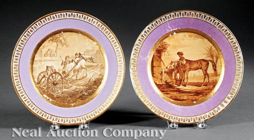 Set of Four Paris Porcelain Plates