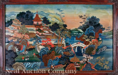 China Trade Reverse Glass Painting