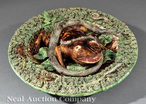 Palissy-Style Trompe l'Oeil Charger