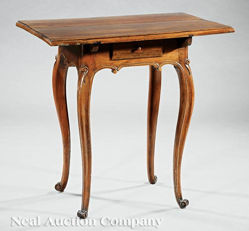 French Provincial Walnut Side Table