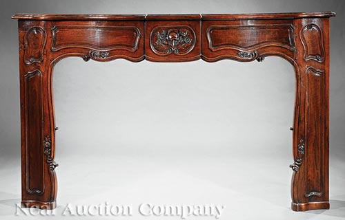 Regence Carved Walnut Mantel