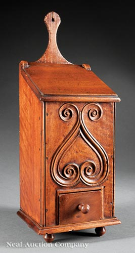 French Provincial Walnut Candle Box