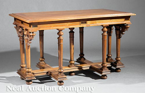 Louis XIII-Style Walnut Center Table