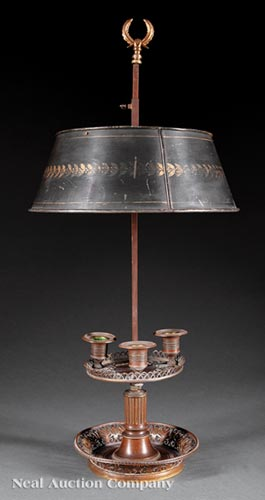Neoclassical-Style Bouillotte Lamp