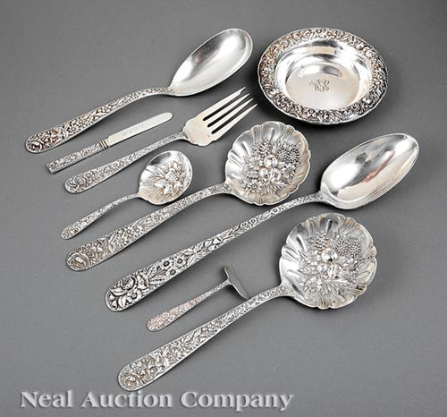 Group S. Kirk & Son Repousse Silver