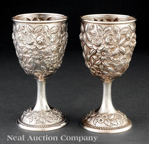 12 S. Kirk & Son Silver Goblets