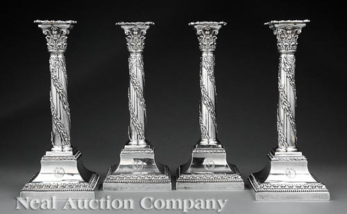 4  Candlesticks, William Hutton & Sons