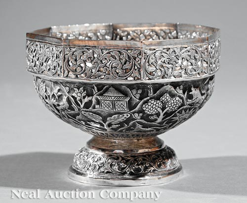 Indian or Southeast Asian Silver Bowl