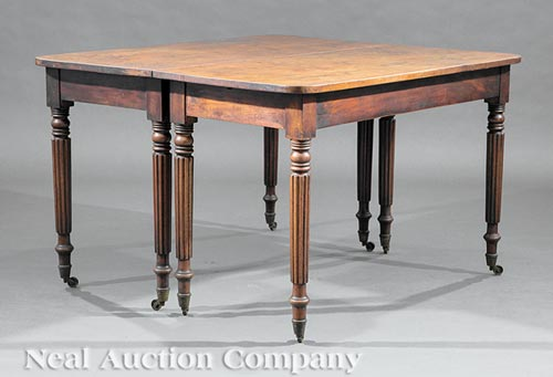 American Federal Carved Mahogany Banquet Table