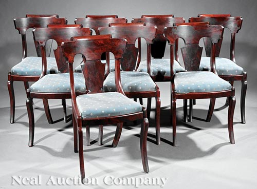 8 American Classical Side Chairs