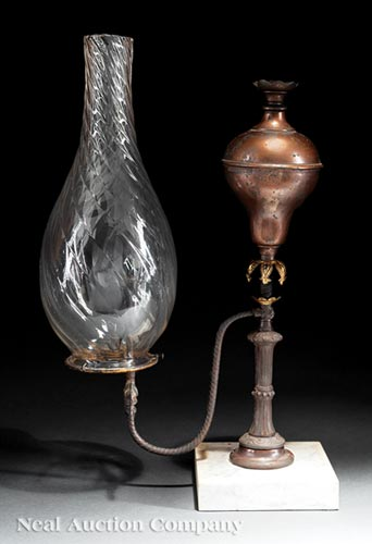 Camphene Lamp, Cornelius and Baker