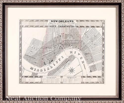 [New Orleans and City of Lafayette Map]