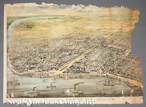 [Rare Bird's-Eye-View of New Orleans]
