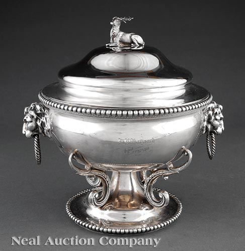 Coin Silver Tureen, Adolphe Himmel