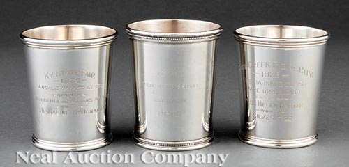 3 American Sterling Silver Julep Cups
