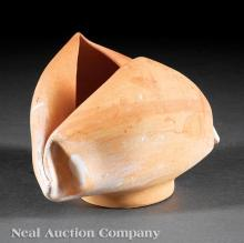 George Ohr Bisque Pottery Vessel