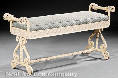 Cast Iron Conservatory Bench