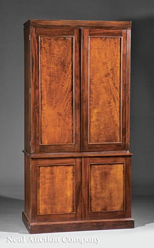 American or English Collector's Cabinet