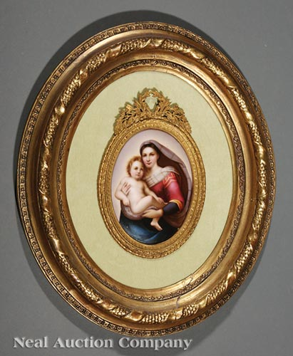 Continental Porcelain Plaque